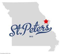 St Peters Missouri Map.48 Best St Peters Mo Images Peter O Toole Saints Missouri