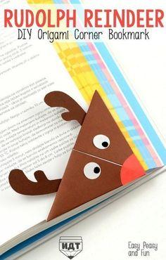 Оригами-закладки в книгу: Олени