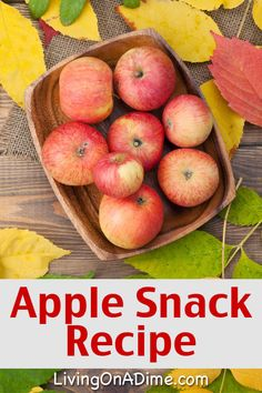 Here are a bunch of homemade apple recipes to help you make delicious treats like pies, snacks and applesauce while using all of those extra apples! Apple Pie Recipes, Snack Recipes, Cooking Recipes, What's Cooking, Apple Snacks, Apple Desserts, Food Charts, Creative Food, Healthy Snacks