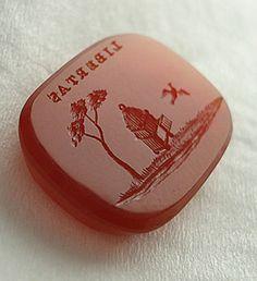Birdcage Carnelian Intaglio Seal. Libertas inscription.