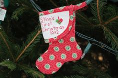 Ornament 365 Photo, Visual Diary, First Photograph, Project 365, First Christmas, Christmas Stockings, Ornaments, Holiday Decor, Projects