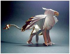 Origami - Griffin, perhaps? By Akira Yoshizawa, Grandmaster of Origami