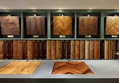 Showroom | The Victorian Woodworks Mayfair showroom showcases eight luxurious collections with over 80 exquisite wood floors on display.