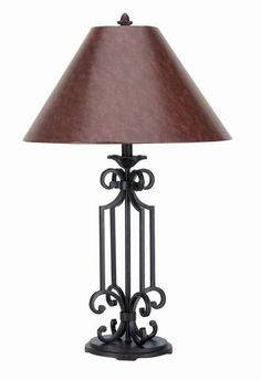 Image Detail For  Iron Lamps, 569 TL Wrought Iron Table Lamp, Free Shipping
