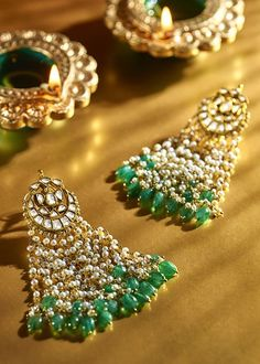 Shri Hari Diagems - Collections | Mughal Mystique Indian Wedding Jewelry, Bridal Jewelry, Gold Earrings Designs, Necklace Designs, Indian Earrings, India Jewelry, Jewelry Patterns, Antique Jewelry, Antique Gold