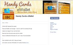 "Visit the Facebook Application Development Page of #iphonewallet app ""Handy Cards eWallet"""