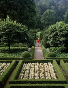 love the way English gardens always have clipped boxwood borders.  so tidy.