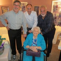 With my mom & my brothers Marty & Don in Toronto.