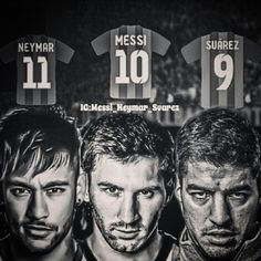 Messi Suarez Neymar Njr Neymarjr Barcelona Fcbarcelona Brazil