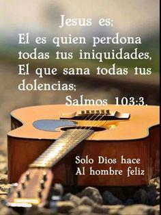 Salmos 103:3-5 El es quien perdona todas tus iniquidades, El que sana todas tus dolencias; El que rescata del hoyo tu vida, el que te corona de favores y misericordias; El que sacia de bien tu boca De modo que te rejuvenezcas como el águila. ♔