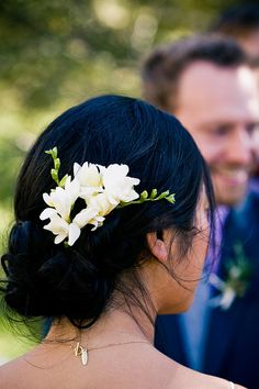 hair full of freesia by youngna, via Flickr