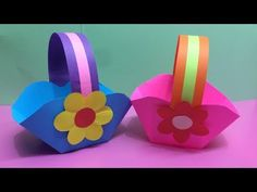 How to Make Heliconia Flower with Color Paper Paper Basket Diy, Basket Crafts, Paper Craft Work, Paper Crafts, Diy Crafts, Classroom Tree, Pop Up Greeting Cards, Pink Paper, 3d Paper