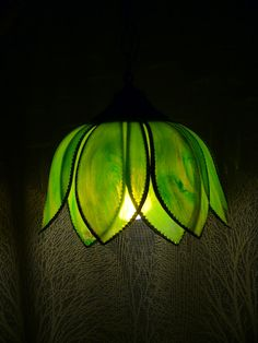 Vintage Tulip Lotus Hanging Swag Light. I think this would look good over a kitchen sink.