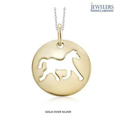 Sterling Silver Cutout Horse Charm Pendant at 89% Savings off Retail!