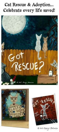 I am an artist and rescue mom.   I paint art that celebrates the life saving act of adoption a shelter pet.  If you find pet rescue and adoption worthy of celebration check out my art and cards... www.etsy.com/shop/TheRescueMama
