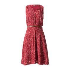 Viskose-Kleid mit Gürtel von zero! #zerofashion