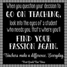 To my teacher friends and family...