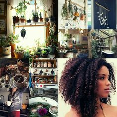 afro witch aesthetic: modern green cottage witch (I own none of these photos. All rights to their original owners.)