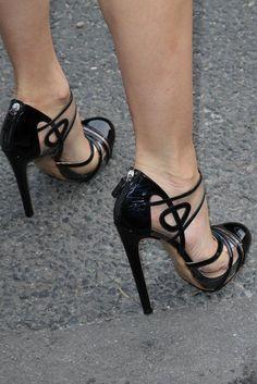 Hot black shoes.