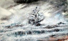 Shipwreck /Watercolor by Edwin Hollett Prints available hollett80@hotmail.com