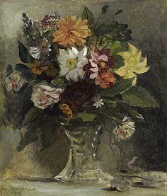 Eugene Delacroix.  Vase of Flowers, 1833. National Gallery of Scotland, Edinburgh.