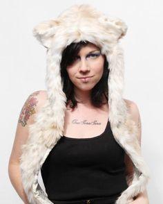 Authentic #Spirithoods #Snow #Leopard Full Hood #Animal #Hat #woman #clothing