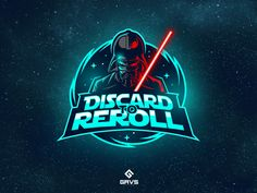 "A podcast channel logo ""Discard to Reroll"" Typo Logo, Typographic Logo, Logo Branding, Corporate Branding, Photo Effects App, Team Logo Design, Identity Design, Game Design, Brand Identity"