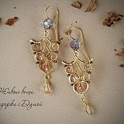 "Handmade Jewelry. Fair Masters - handmade earrings ""Lariel."" Handmade."