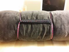Picture of Paracord Blanket / Sleeping Bag Compression Strap With Handle - I made it at TechShop!