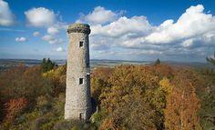 Hainigturm in Lauterbach Vogelsbergkreis Hessen. Heimat. Drone DJI Phantom3 Professional