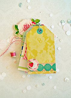 Tages created using Crate Paper.  #papercrafts