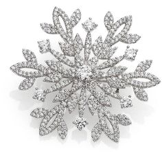 Adriana Orsini Pave Sterling Silver Snowflake Pin ($185) ❤ liked on Polyvore featuring jewelry, brooches, brooch, jewels, apparel & accessories, silver, evening jewelry, sterling silver jewelry, adriana orsini jewelry and adriana orsini