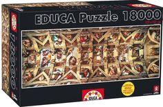 1 of 1: Educa 18000 piece Sistine Chapel jigsaw puzzle!