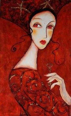 Woman in Red Dress Oil Painting Corinne Reignier Dress Painting, Painting People, Red Art, Portraits, People Art, Shades Of Red, Art World, Lady In Red, Illustration Art