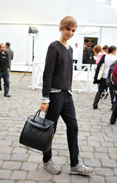 Love the bag (Alexander McQueen) and knit