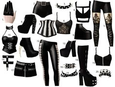 hungrysims3:  lolabourbonsims:  I got asked about listing some female goth-y CC. So here's a few of the things i like/use a lot. This really is only a small selection though, there isn't even any dresses on this one!1/2/3/4/5/6/7/8/9/10/11/12/13/14/15/16/17/18/19/20 2 is from the Katy Perry stuff pack.10 and 19 are from Late Night EP.  <3