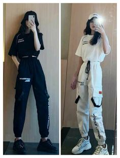 Kpop Fashion Outfits, Girls Fashion Clothes, Tomboy Fashion, Edgy Outfits, Cute Casual Outfits, Streetwear Fashion, Pretty Outfits, Korean Girl Fashion, Ulzzang Fashion