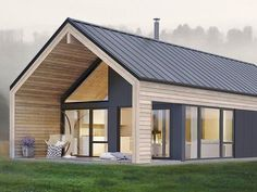 Amazing Simple and Elegant Koia Modern Cabin from Norgeshus - Architecture Small Modern House Plans, Modern Barn House, Barn House Plans, Small House Design, Modern House Design, Small Modern Cabin, Modern Cottage, Small Modern House Exterior, Wood House Design