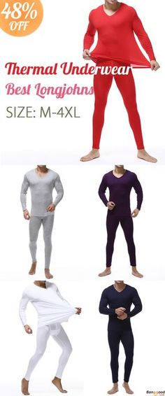 Keep You Warm Yet Stylish. US$20.27 + Free Shipping. Mens Basis Bottoming Long Johns Thermal Underwear Sets Plus Size M-4XL.