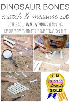 Create some DIY dinosaur bones for using in sensory play activities and learning about maths at the same time! Lots of different ways to play and learn!