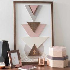 Farbkombi kleines Kinderzimmer: evtl. grau, holz, rosa, weiß KALI COOPER wooden wall art 42 x 62 cm