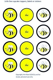FREE Printable Cupcake Toppers Labels