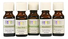 Aura Cacia Essential Oils -  The nice thing about these oils is that I can get them at Wegmans, my local grocery store.  auracacia.com