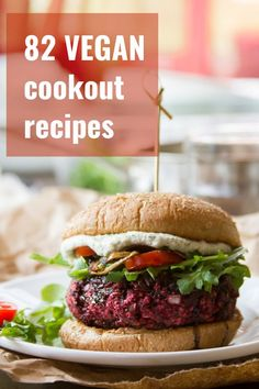 Ready for a juicy, hearty, flavor-packed veggie burger that's super pretty to boot? These vegan beet burgers bursting with color and flavor, and topped with a balsamic glaze that adds zip and a touch of sweetness. Vegan Beet Burger, Beetroot Burgers, Vegetarian Burger Patties, Vegetarian Food, Vegetarian Barbecue, Meatless Burgers, Veggie Patties, Veggie Food, Vegan Dinner Recipes