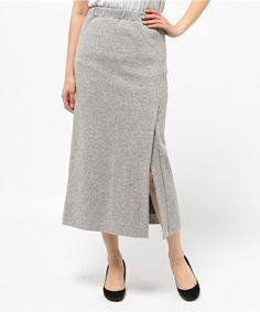 ネップリバースリット入りスカート(スカート)|MOROKOBAR(モロコバー)のファッション通販 - ZOZOTOWN