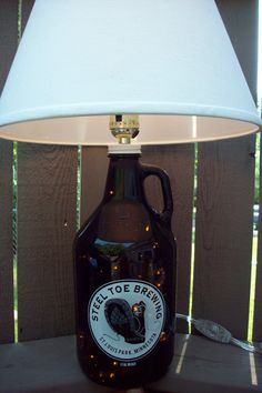 Awesome beer bottle lamp!