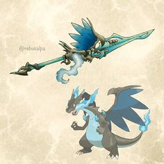 Mega Charizard X Pokemon Weapon