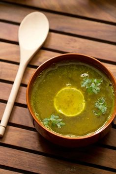 lemon coriander rasam recipe, how to make lemon coriander rasam recipe