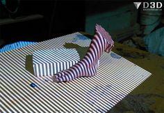 Proceso de escaneado 3d de un pie