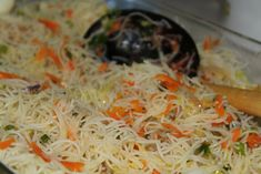 Since I was a little girl, Noodles have been one of my favorite foods. I could eat it this way for breakfast, lunch or dinner :D It is so good. I promise. Try it out for yourself and it is very eas… Sri Lankan Noodles Recipe, Vegetable Noodles, Vegetable Recipes, Indian Food Recipes, Asian Recipes, Ethnic Recipes, Filipino Recipes, Sri Lankan Recipes, Sri Lankan Food